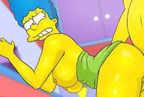Marge Simpson recibe una follada anal con corrida