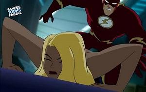Dibujos animados de la versión porno de The Flash