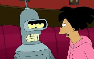 Amy y Bender de Futurama siempre acaban follando