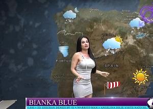 Se follan en directo a la presentadora del tiempo, Bianka Blue